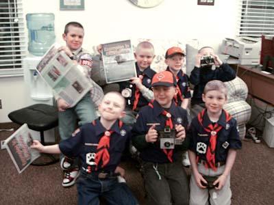 Cub Scout Pack 3283 - (back, left to right) Steven Pakiela, Kevin Pakiela, Edward Frey, Ryan Karwowski, (front) Brady Karwowski, Scott Ungrey and John Bina.