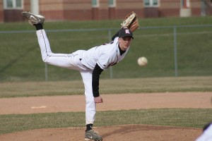 Brian Baldwin pitches for the game against Greenville.	Photo by KANDI JEZAK