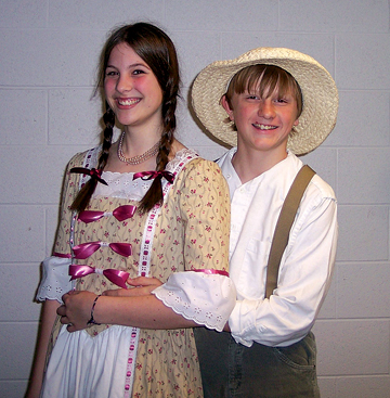A GRAND PERFORMANCE—Emily Wilburn as Becky Thatcher and Harrison Witt as Tom Sawyer
