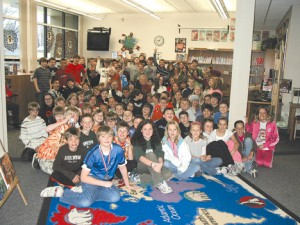Valley View fifth grade journalism students.