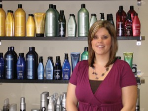 LIVING HER DREAM—Becky Johnson dreamed of owning her own salon someday. Five years after graduating from high school, she is a successful salon business owner in downtown Rockford.