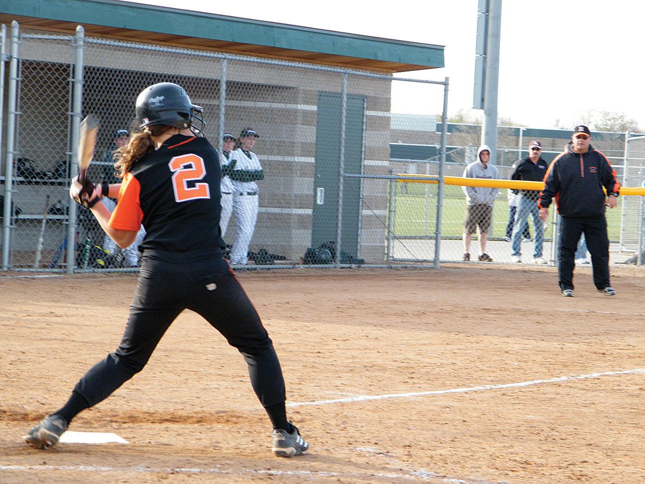 Lauren Pasciak blasts the winning hit.