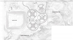 IF WE BUILD IT THEY WILL COME—The proposed West Michigan Sports Commission (WMSC) Ten Mile Road Athletic Complex. According to the WMSC, the field would host youth and amateur sports teams every weekend of the baseball/softball season and bring millions in revenue to the area.