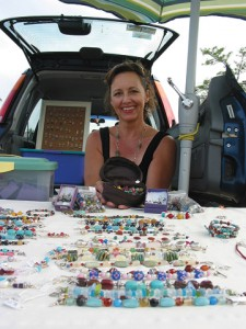 Jamie Williams, with her home business Meant to  Bead, is thrilled with the Plainfield Farm Market. She also has a booth at the Fulton Street Market.