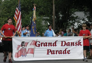 RAINY WEATHER—The Grand Dansk Parade is a highlight of Greenville's annual Danish Festival.