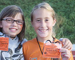 (Left to right); Mckenzie Palmisano and Rachael Erste, fourth-graders from Meadowridge Elementery.