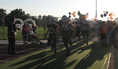 The Rockford Rams take the field.