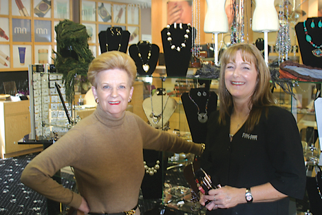PAIRING UP—Sharon Serschen and Wendy Barnes are excited to share retail space in downtown Rockford. The two hope offering Serschen's accessories and Barne's Merle Norman products will be a winning combination.
