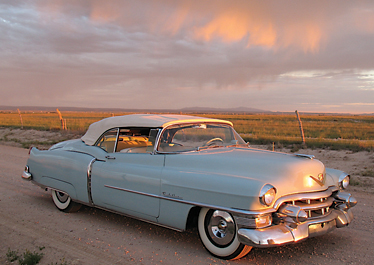 """Zelly,"" a 1953 Cadillac Eldorado, is on the scene during sunrise in New Mexico.	Photo courtesy of TIM LENON"