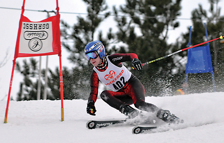 Michael Dix races in the giant slalom event to place sixth for Rockford
