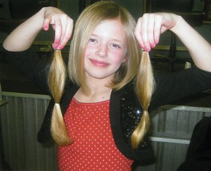Anna, 7, a student at Crestwood Elementary School in Rockford, recently donated her locks