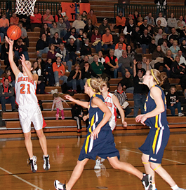 Megan Kelley makes the layup