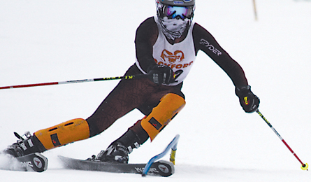 Michael Dix skis to a seventh-place finish in slalom for the Rams.