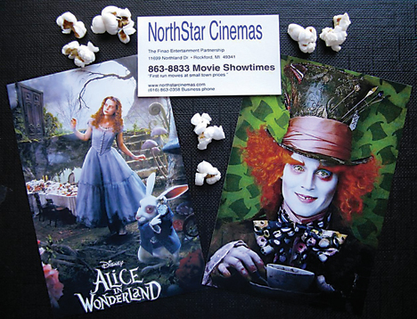 """""""Alice in Wonderland,"""" with the amazing Johnny Depp as the Mad Hatter, is now showing at NorthStar Cinemas.Photo composition by C&N"""