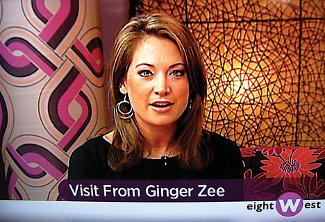 "Rockford High School graduate, Ginger Zuidgeest, visits WOOD TV's ""eightWest.""   photo by CLIFF HILL"