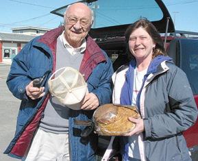 HAM IT UP—The annual Lions Club ham sale has built a reputation and loyal following.