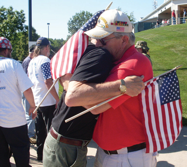 Vietnam War veterans Ken McKay and Rod VanOeveren reunite after serving together decades ago. They saw each other for the first time here in the United States at