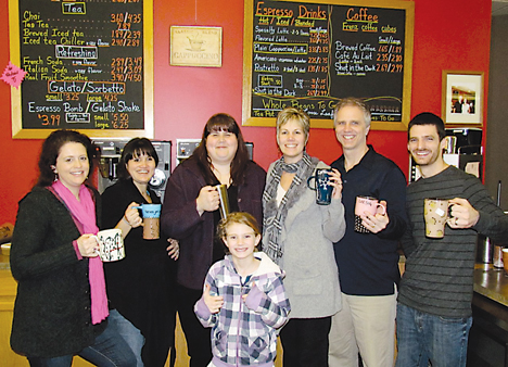 One last time—this one's for you! Pictured are Frenz baristas (l–r) Sue MacCauley, Felix Smith, Kris Pena, owners