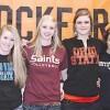 Six Rockford High School varsity volleyball players h