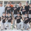 Finishing the season with a 13-0 record and a Class A District 9 tournament win is the Rockford Little League Majors team of (front row, l–r) Bayley Slater, Kyle Rob