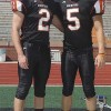Connor Darby (#2) and KC Zenner (#5) are elected as this year's captains of the Rockford Rams football team.