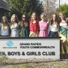 From one to two, now 21 students are participating in a Rockford school club to raise donations for underprivileged students and the Grand Rapids Boys and Girls Club. Pictured are some of the club members.