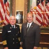 State Rep. Peter MacGregor, R-Rockford, attends the second annual 9/11 ceremony held by the Michigan House of Representatives with Courtland Township Fire Chief Mickey Davis.