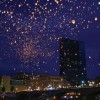 More than 15,000 sky lanterns were launched from downtown Grand Rapids 