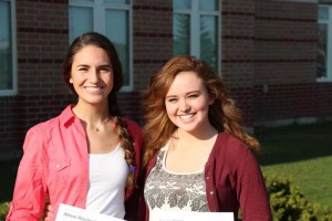 Rockford High School students (L-R) Allison Reichenbach and Baylie Rajter won the top prize in the 2013 Value Health Partners Stroke Prevention Student Video Competition.