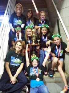 Bronze Medalists – 3rd place – Cannonsburg Elementary Prob 3,  Div 1 – coaches Karen Dufendach and Michelle DeVries – team members: Kaylia Dufendach, Maggie Silver,  Courtney Cocuzza, Ashlyn DeVries, Avery Milo, Clara Wyman, Lindsey Meredith.