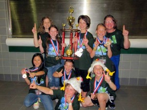 WORLD CHAMPIONS! – 1st place - Crestwood Elementary Prob 5, Div 1 – coaches Lesley Zainea, and Jackie Lyals – team members: Brice Kliewer, Hazen Zainea, Maddie Lyals, Sophie Stauffer, Jenna Broderick, Dominic Meinke and Michelle Moore.