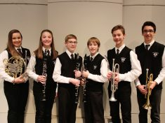 ERMS All-State Band Members and Honorable Mention:  Lauren Jackson, Ella Shope, Michael McGovern, Matthew Luxhoj, Kent Burns, and Will MacIntosh